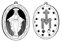 really cute miraculous medal coloring page free to print