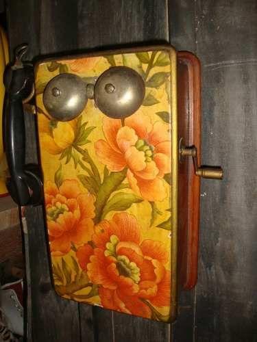 Lindo Telefone Inglês Antigo De Parede Original Funcionando à venda em Blumenau Santa Catarina por apenas R$ 850,00 - CompraCompras.com Brasil