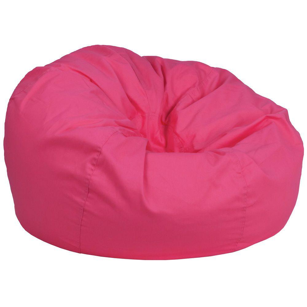 Flash Furniture Oversized Solid Hot Pink Bean Bag Chair Bean Bag Chair Pink Bean Bag Bean Bag Chair Kids