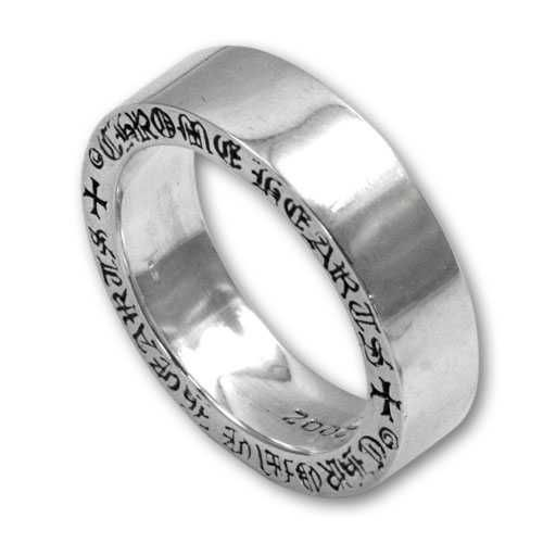Ivy Scroll Bands: Chrome Hearts 6mm Spacer Silver 925 Ring Shop Online Store