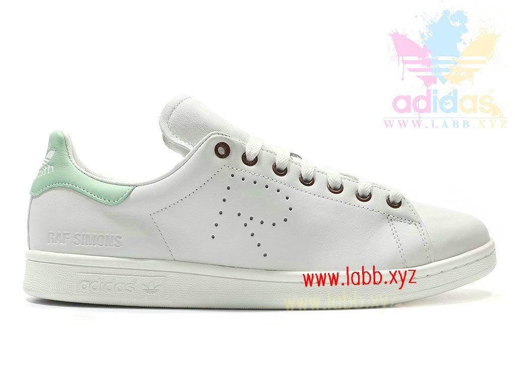 Adidas Taille Homme/Femme x Raf Simons Stan Smith White Blush Green AQ2642  Adidas prix