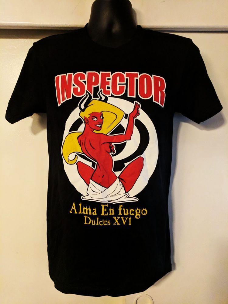 8946c5156953 Mercancia Oficial de Inspector - Alma En Fuego Graphic Tee  Black - 2xL  SKA