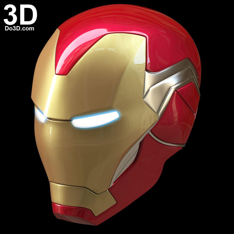 3d Printable Model Iron Man Mark L V Helmet Mk 85 Tony