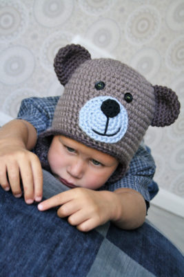 Crochet teddy bear hat #babyteddybear