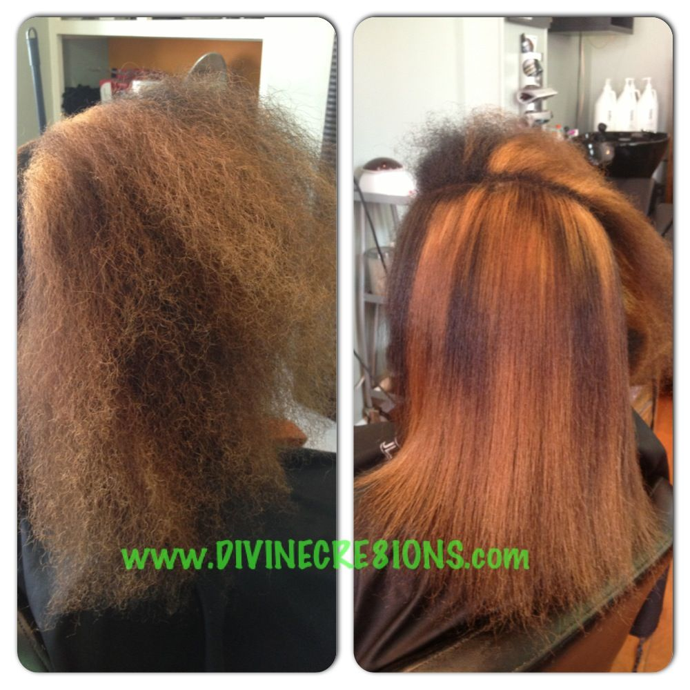 Natural hair blowdry and flat iron using the Paul Mitchell