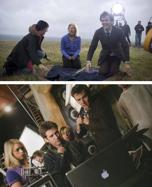 Click through for full BTS picture set and interview excerpt with David Tennant and Billie Piper.
