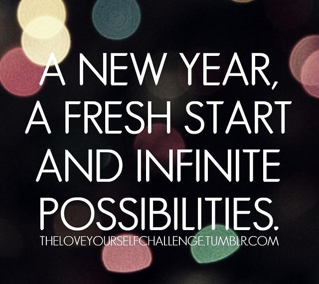 new year fresh start infinite possibilities