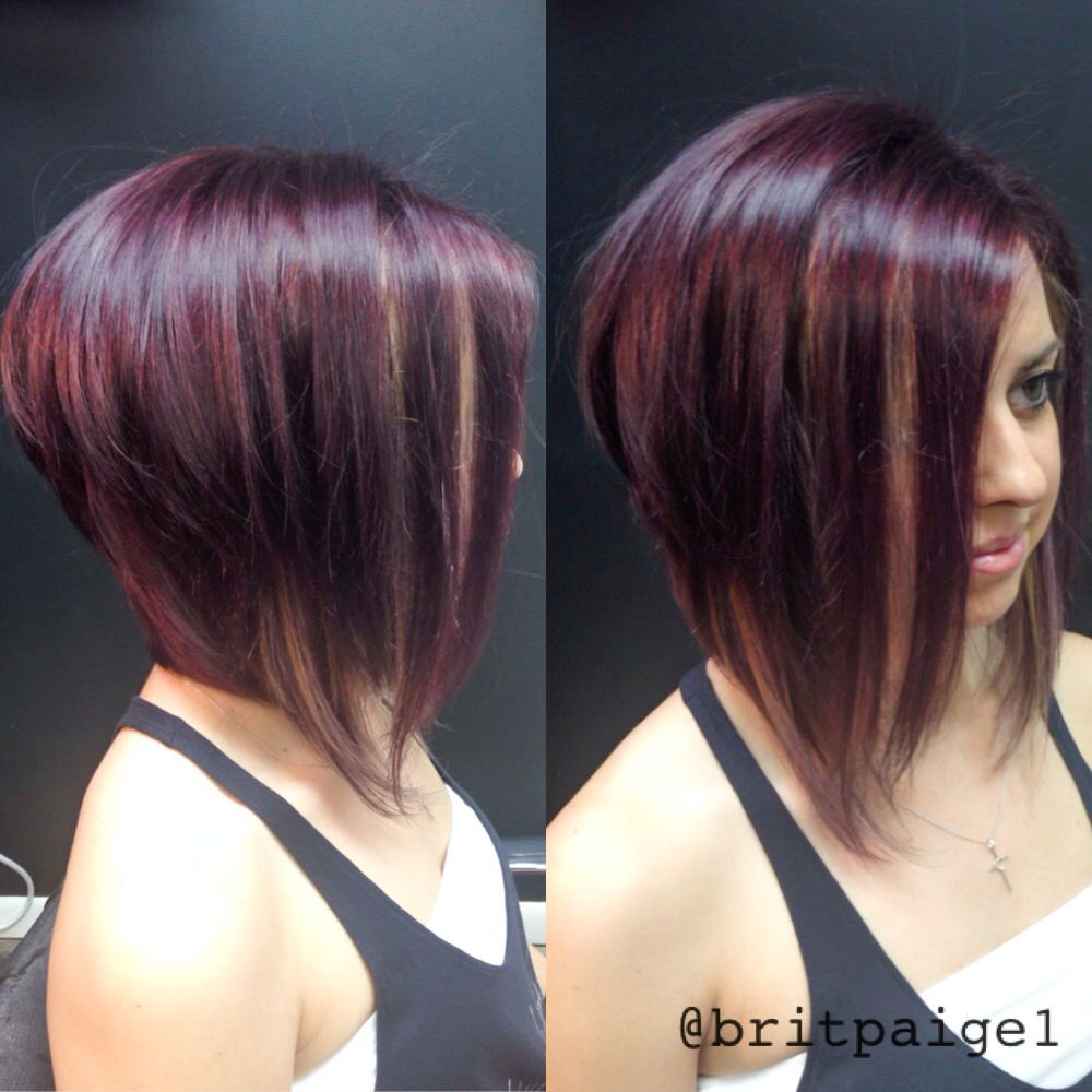 I did this. Violet base, platinum peek-a-boos, asymmetrical goodness! @Julie Flick #britpaige