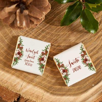 Czekoladka Swiateczna Prezent Firmowy Naturalne Swieta Place Card Holders Cards Place Cards