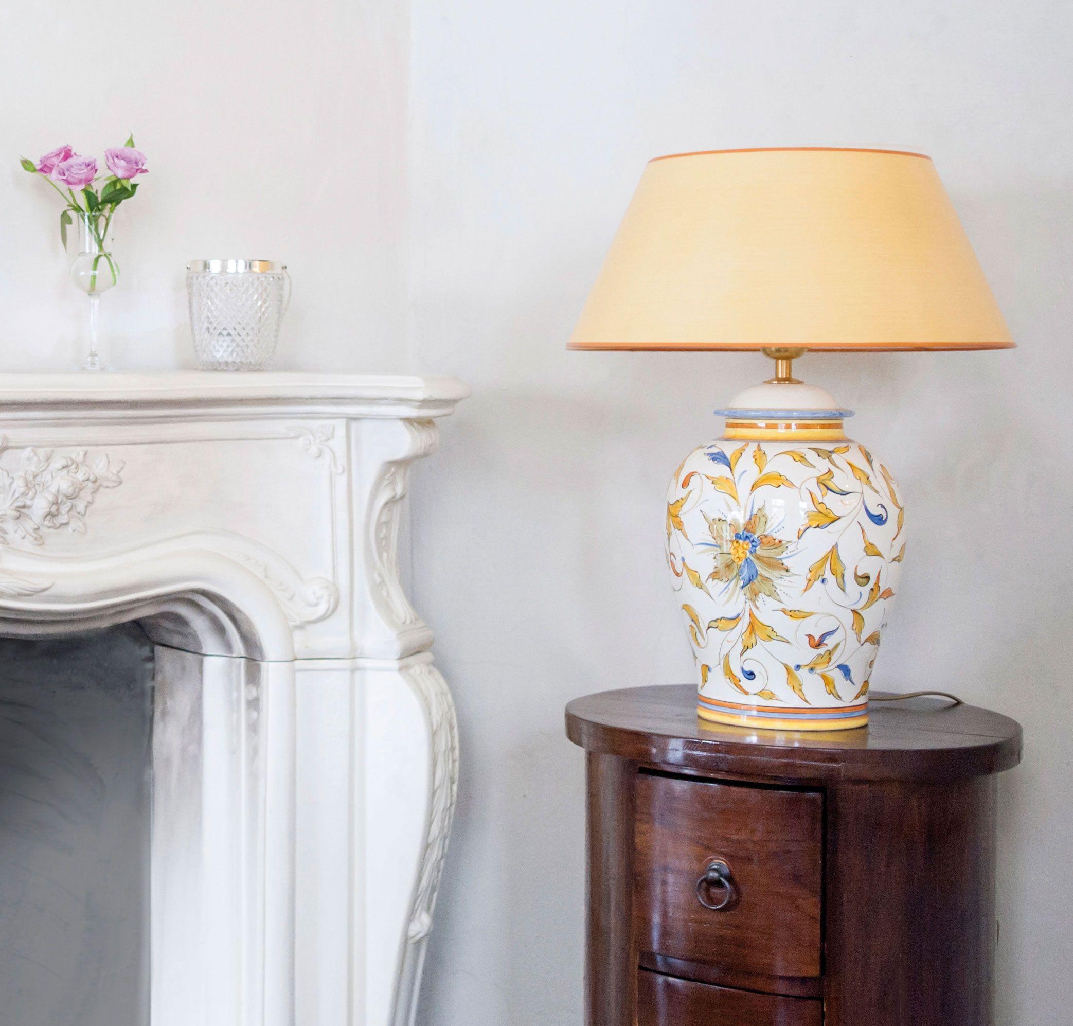 Tischlampe Raffaello Potpourri Mit Gelbem Strichlackschirm Verschiedene Grossen Tischlampen Lampe Lampen