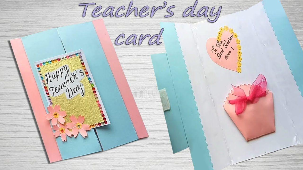 Cute Candy Card Idea Teachers Day Card Teachers Diy Card Making