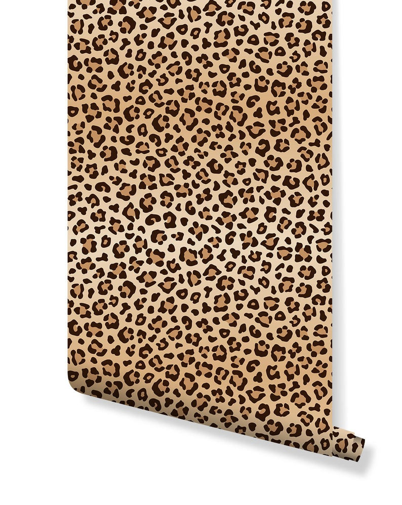 Leopard Print Spots Removable Wallpaper Self Adhesive Wall Paper Vinyl With Animal Pattern Peel And Stick Application Cc151 In 2021 Removable Wallpaper Vinyl Paper Self Adhesive Wallpaper