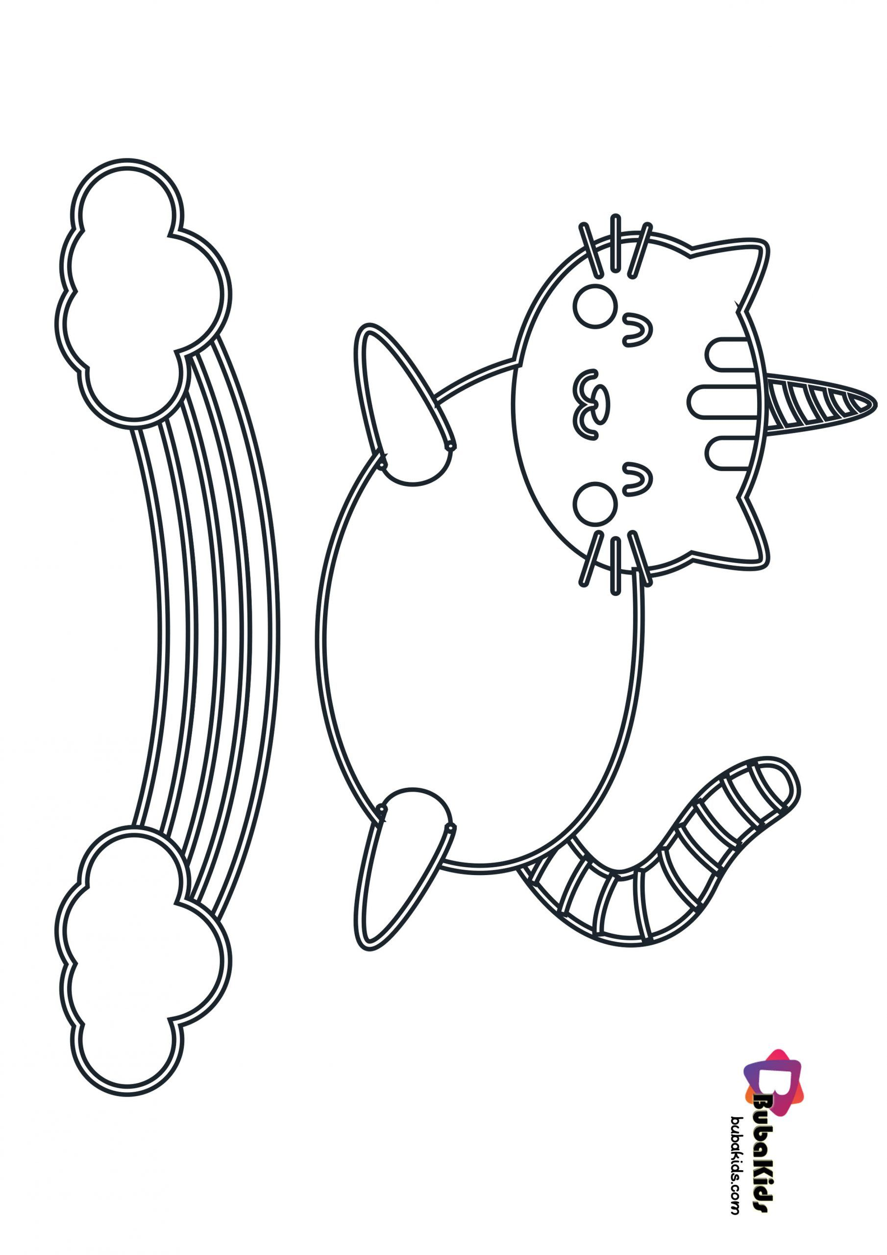 Cute Unicorn Cat Coloring Page Cat Coloring Page Coloring Pages
