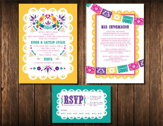 Conjunto Invitación De Boda Mexicana Digital Por Alwaysbdesign Mexican Themed Weddings Wedding Decorations