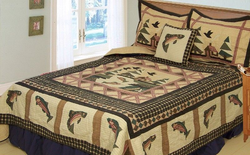 Fishing bedding for boys bing images boys beds for Bed fishing for bass