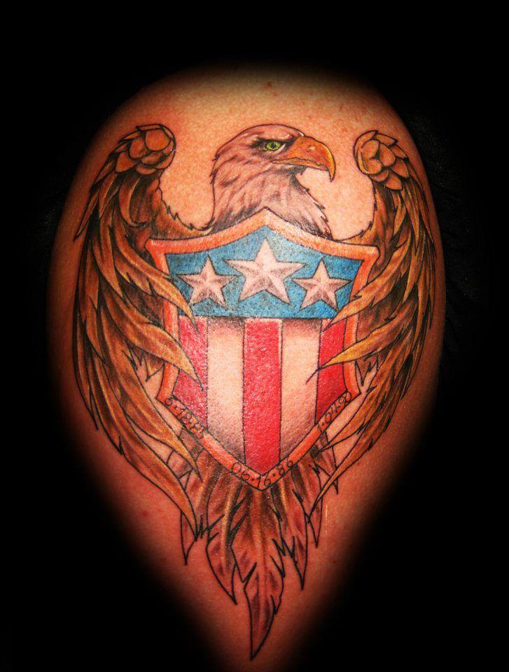 Bald Eagle, American Tattoo by Shaun Washburn www.satori ...