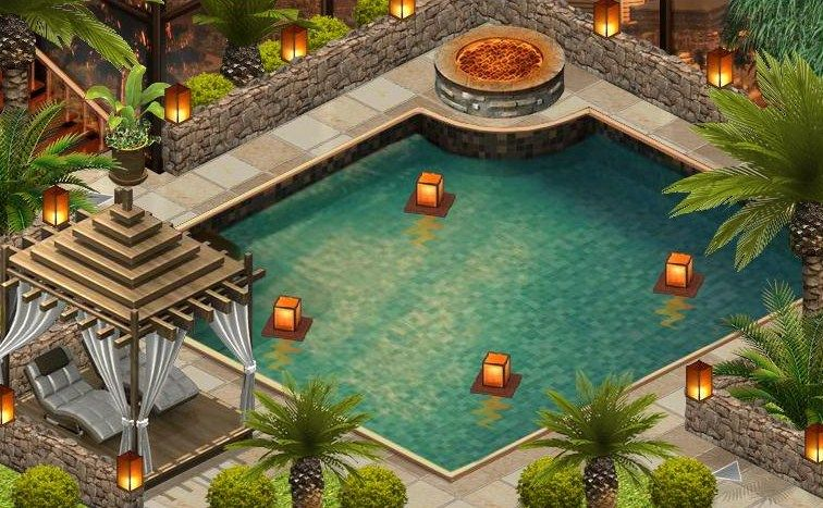 Beverly Hills Pool My Yoville Yoworld Art Home