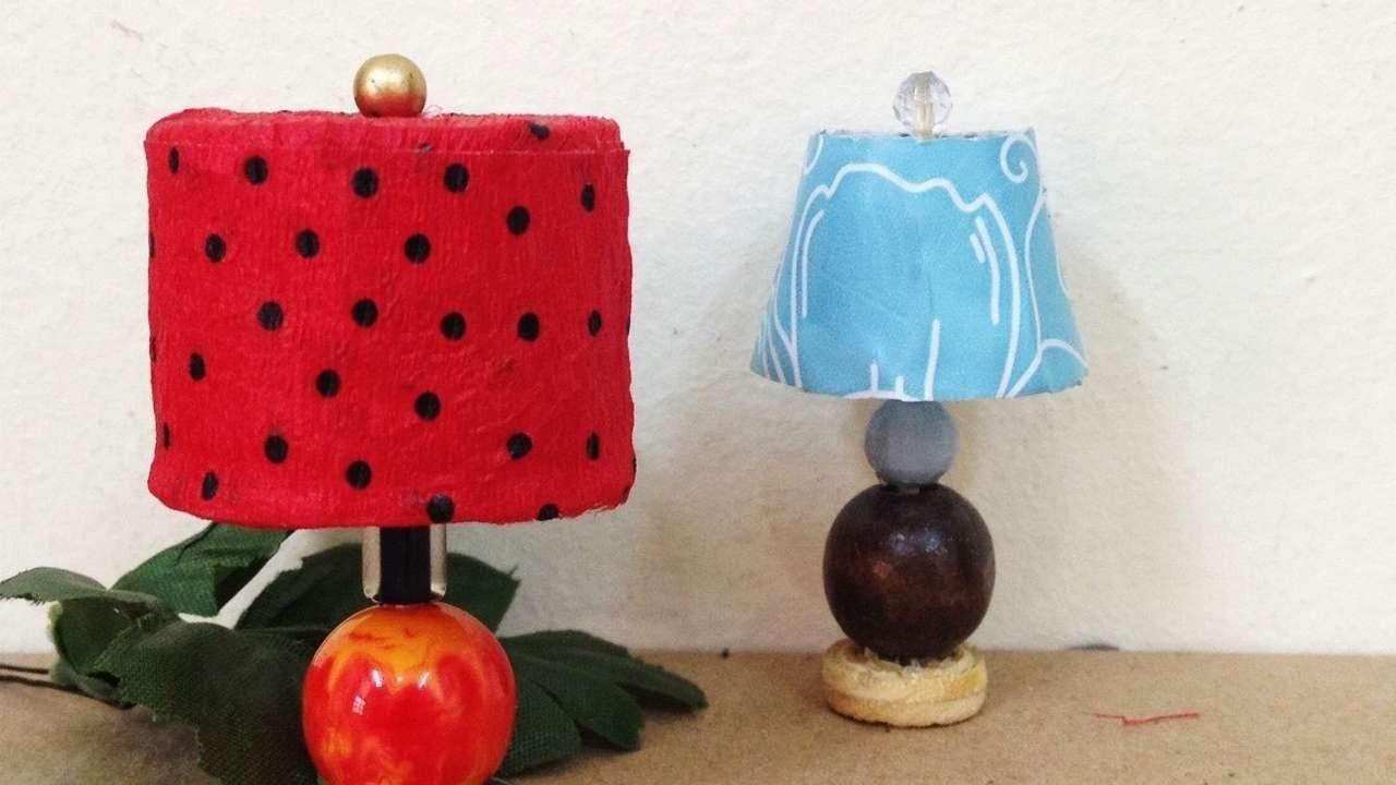 How To Make A Cute Miniature Dollhouse Lamp Shades DIY