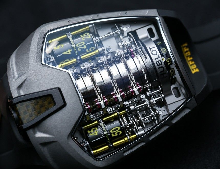 Hublot Mp 05 Laferrari Ferrari Titanium Yellow Watch Hands On Ablogtowatch Yellow Watches Hublot Watches