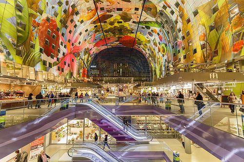 De Markthal Rotterdam aan de Binnenrotte is de nieuwe architectuur ...