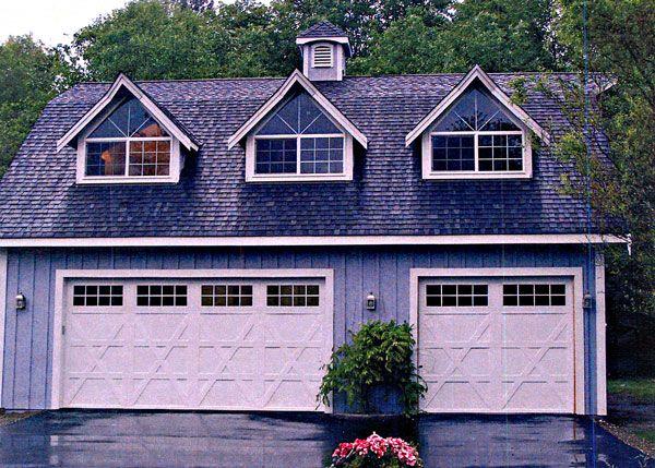 Darling Small Gambrel Barn House--Plans. Combination garage & loft ...
