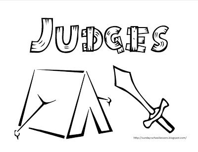 Book Of Judges Free Coloring Page For Kids Sunday School