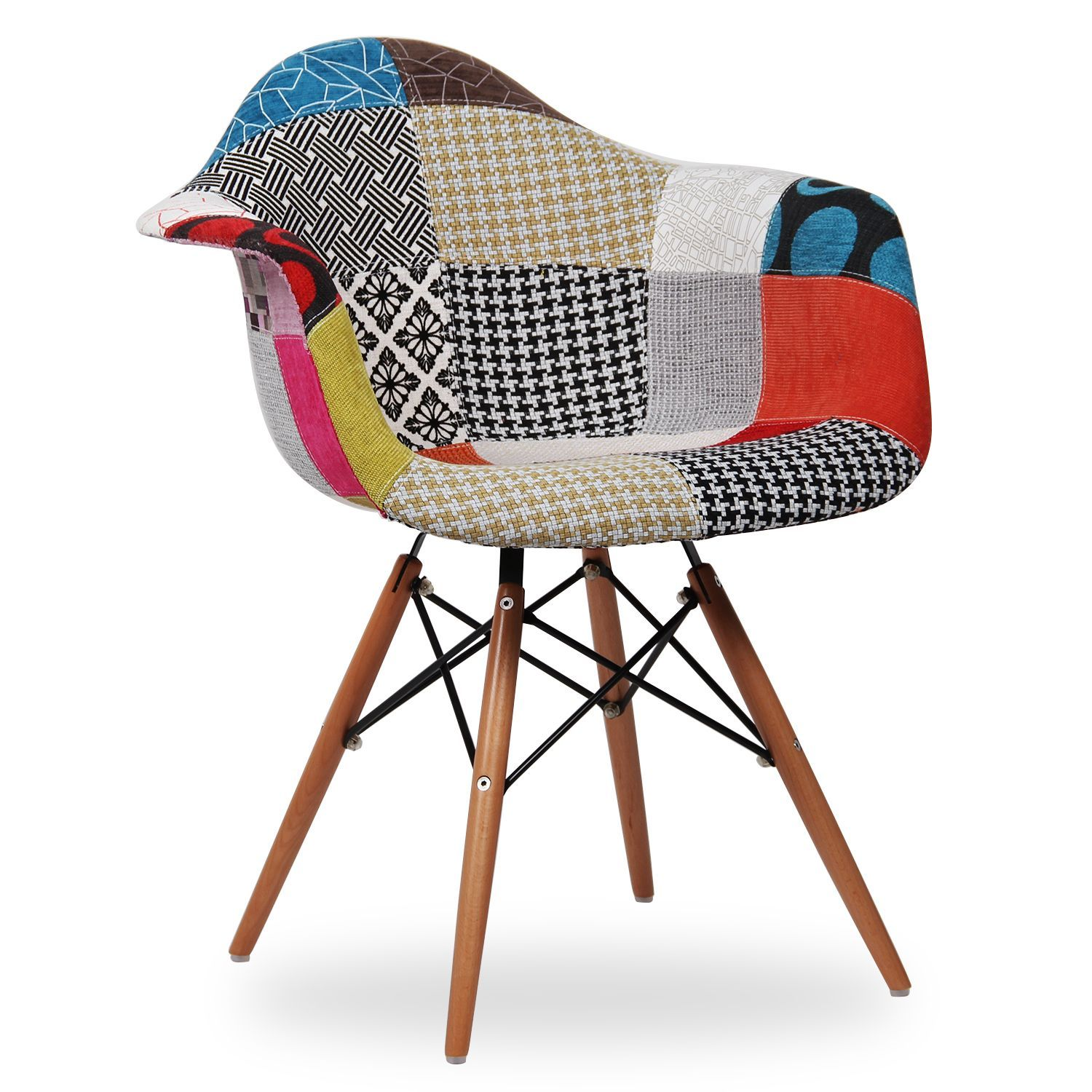 Silla WOODEN ARMS Patchwork Edition Sillas Icono Del Diseno