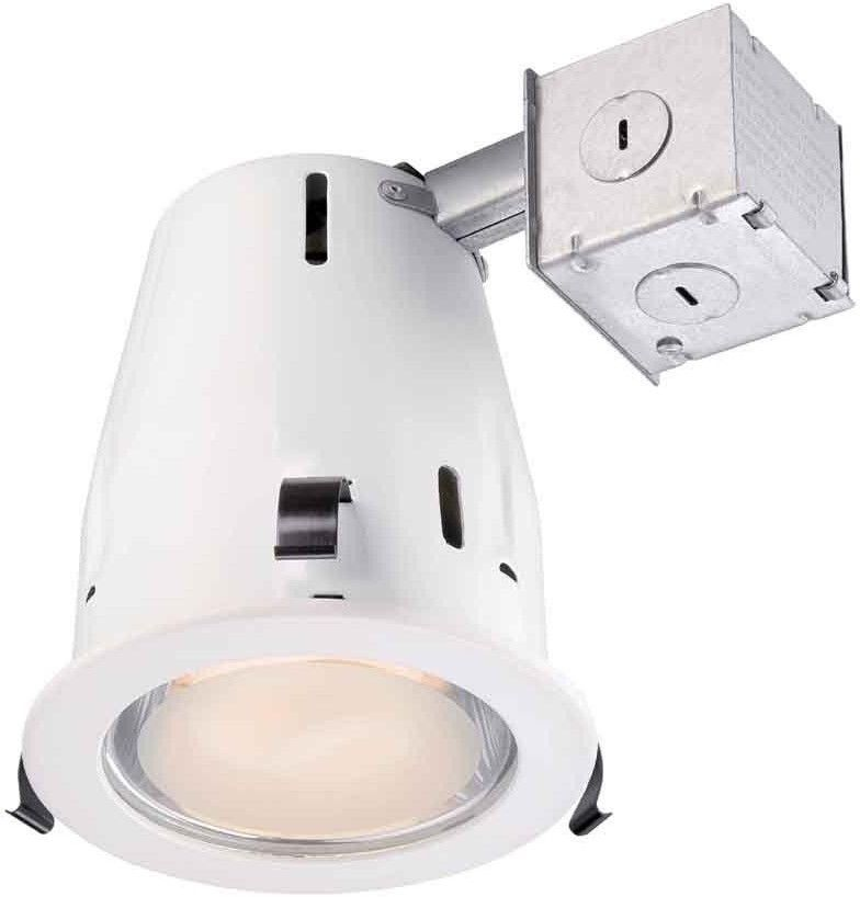 4 White Recessed Shower Ceiling Light Kit Dimmable Reduce Energy Wet Location