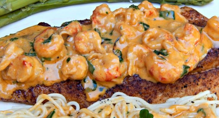 pan fried speckled trout with creamy crawfish sauce crawfish recipes ...