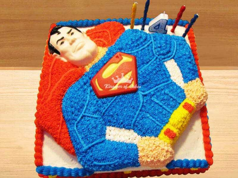Phenomenal Order Online Superman Cake For Kids Unique Designer Superhero Personalised Birthday Cards Epsylily Jamesorg
