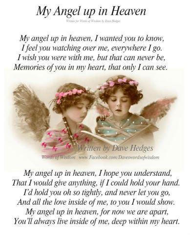 My Angel Up in Heaven Poem   Heaven and Spirituality   Mom