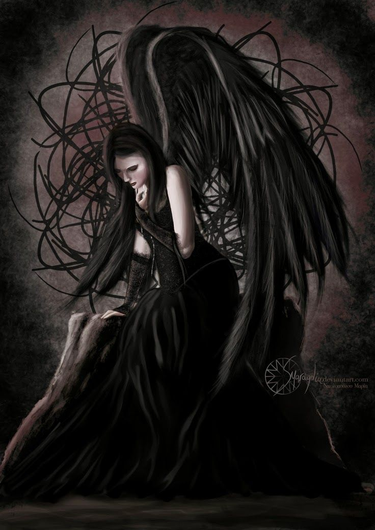 Pin on art photography a glimpse into the other side - Gothic fallen angel pictures ...