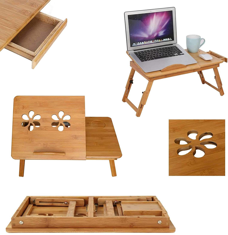 mervy table de lit pour pc notebook