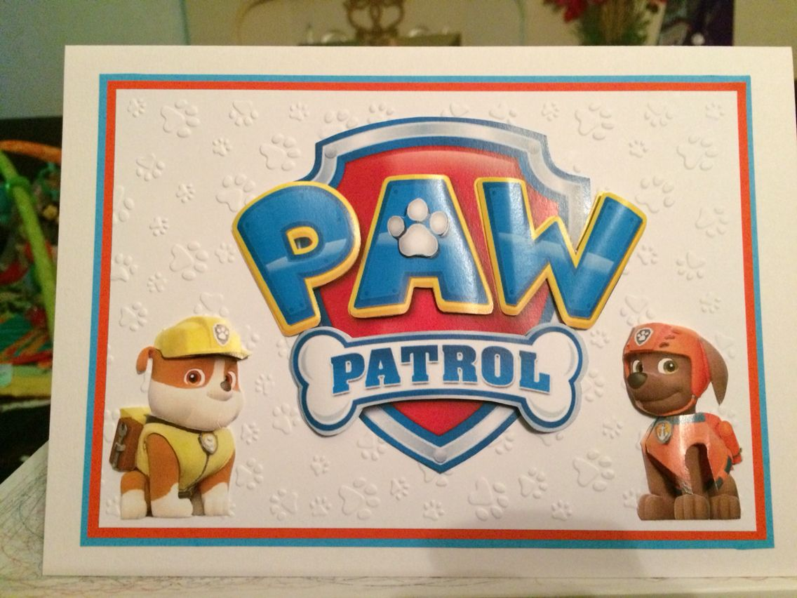 Paw Patrol Birthday Card Cards Paw Patrol Birthday