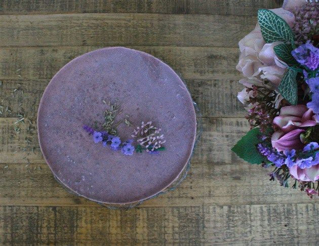 lavender cheesecake | in raw we trust