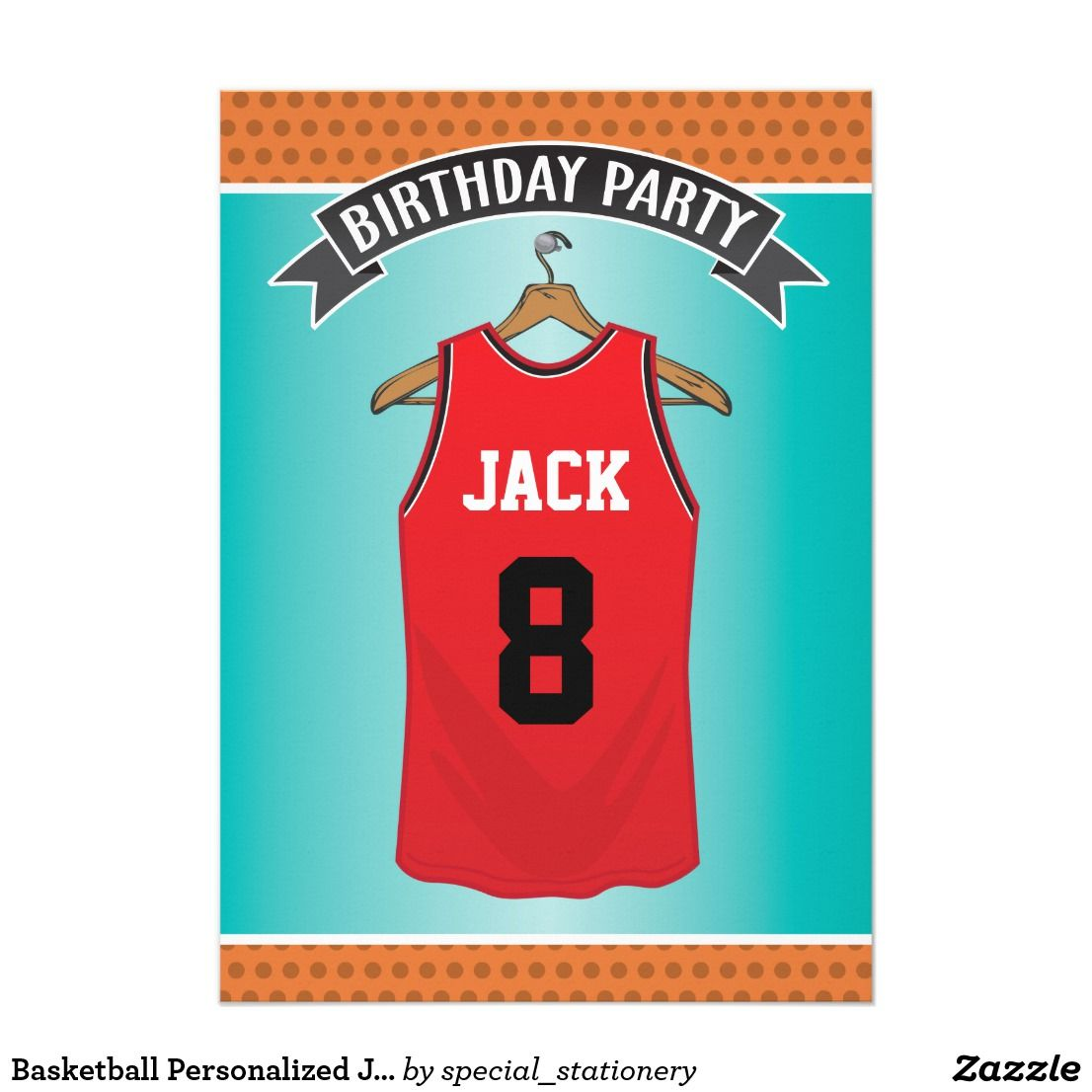 f1e43bed3 Basketball Personalized Jersey Red Sports Card