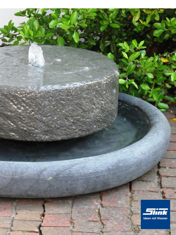 Gartenbrunnen Texel Terrassen-Mühlstein Garten Pinterest - garten brunnen stein ideen