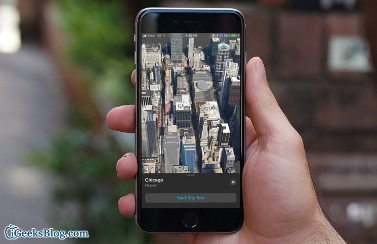 Take Virtual Reality Tour of Flyover Cities in iOS 11