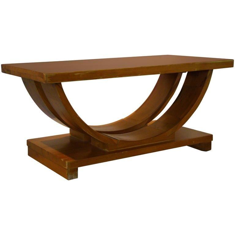 Art deco streamline moderne coffee table by modernage 1