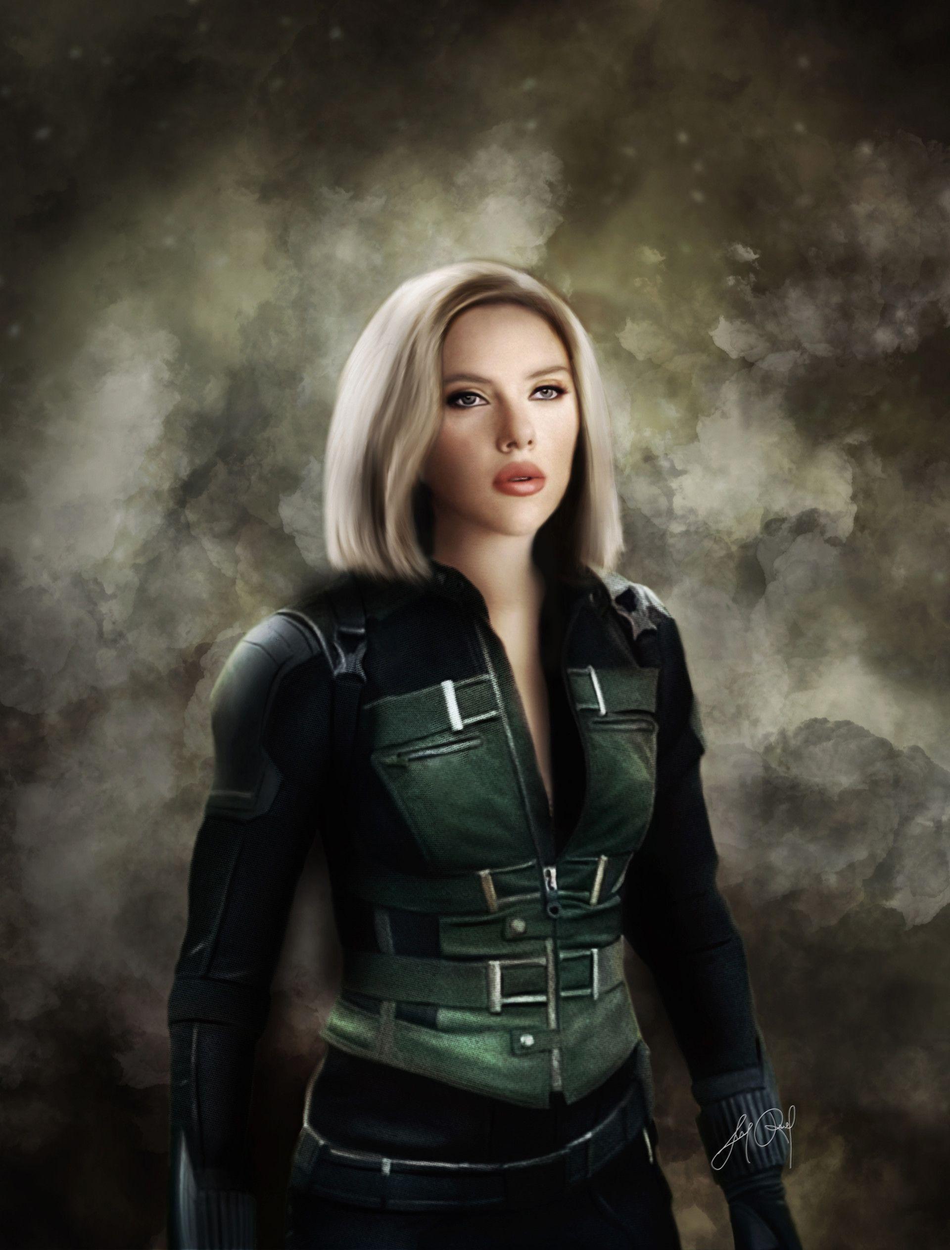 Black Widow Artststion Artstation Black Widow Infinity War Digital Drawing Widow Black Widow Nebula Marvel