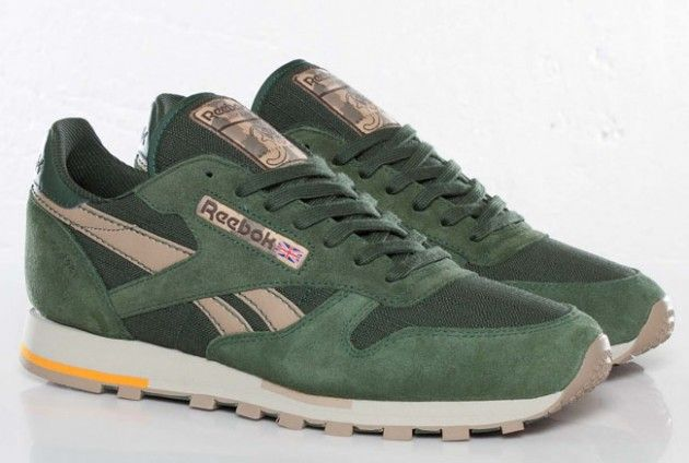 Reebok classic, Sneakers, Olive green shoes