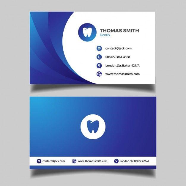7bd9ea81e1510 Tarjeta de visita para dentistas Vector Gratis