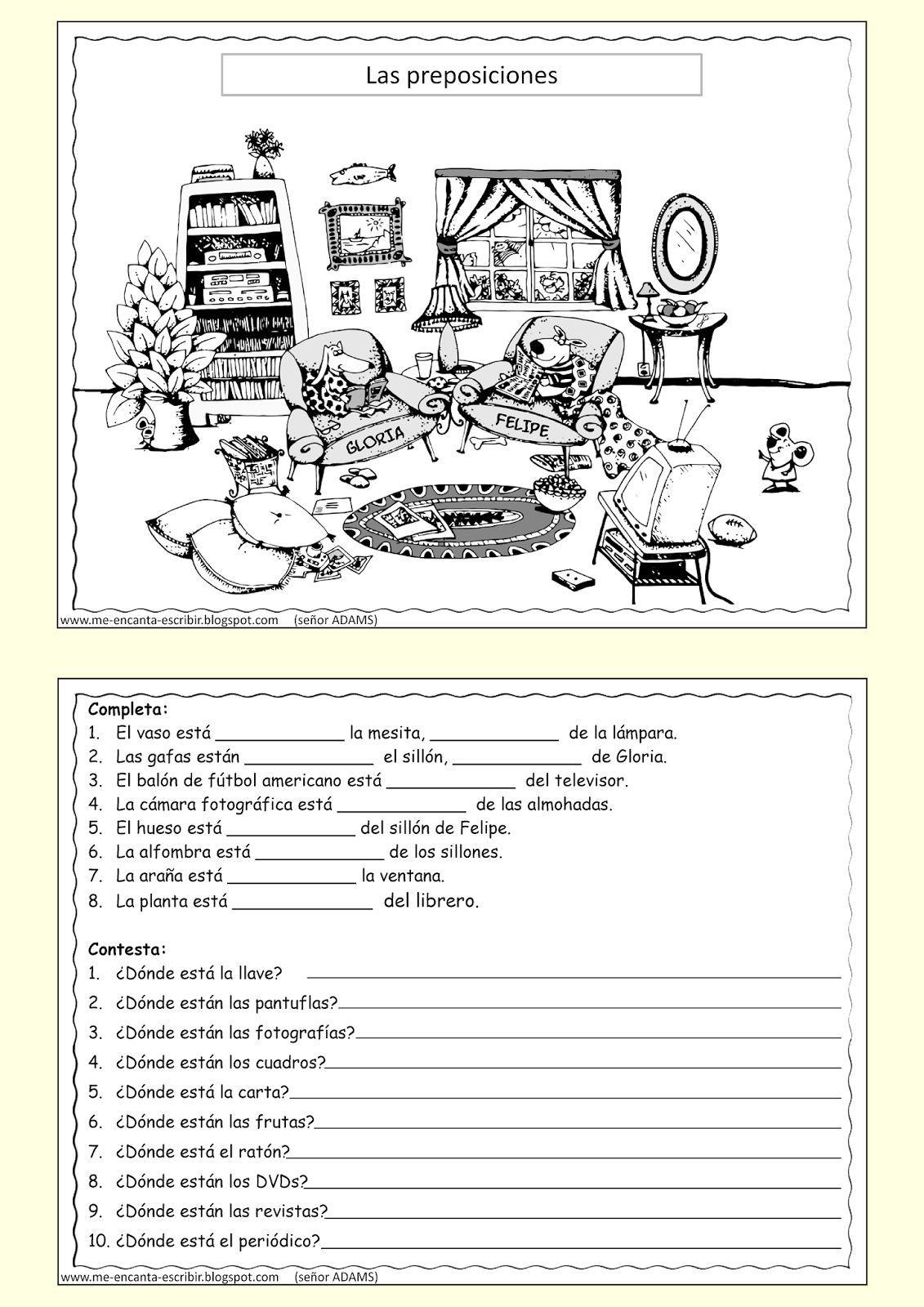 Vocabulario De Los Muebles De La Casa Profedeele Es Actividades  # Muebles Worksheet