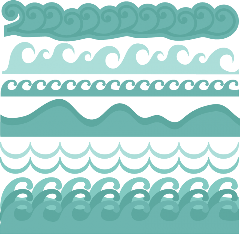 Wave Borders SVG Cut Files Beach Svg Ocean Free Svgs
