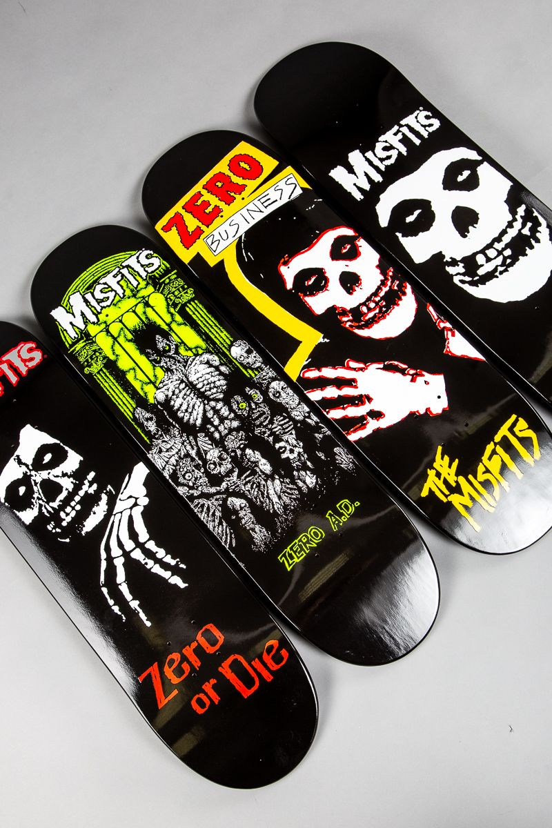 ad57993660a96a The perfect combination: Zero Skateboards & Misfits have released a new  deck series together! ⠀ #skatedeluxe #SK8DLX