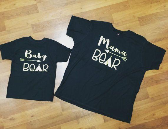 Mama bear baby bear matching shirts - matching mother kid shirts - mother daughter - mother son - mama bear baby bear matching M4y1q