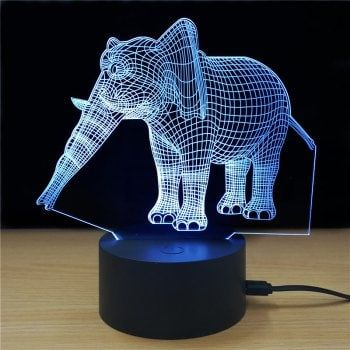 M Sparkling Td223 Creative Animal 3d Led Lamp Led Night Lamp Led Shop Lights Led Night Light