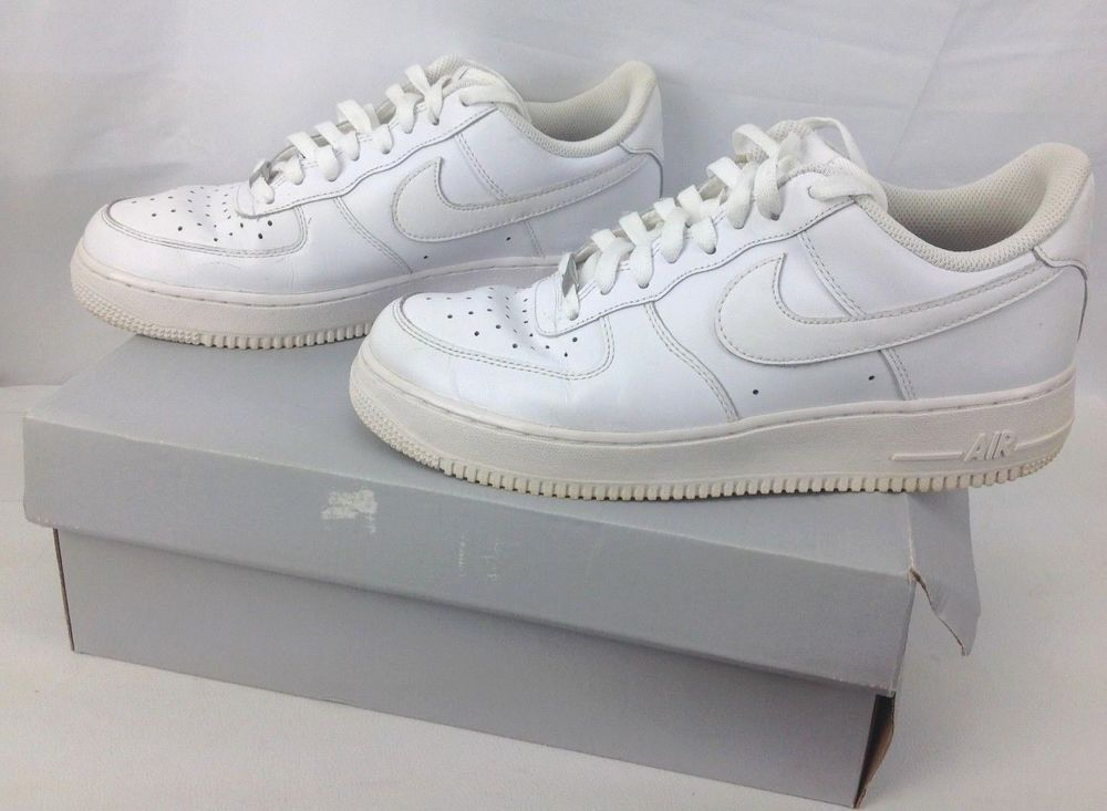 outlet store 16a24 e783e DS Nike Air Force 1  07 White Leather Low Athletic Shoes 315122-111 Mens Size  9  Nike  AthleticSneakers