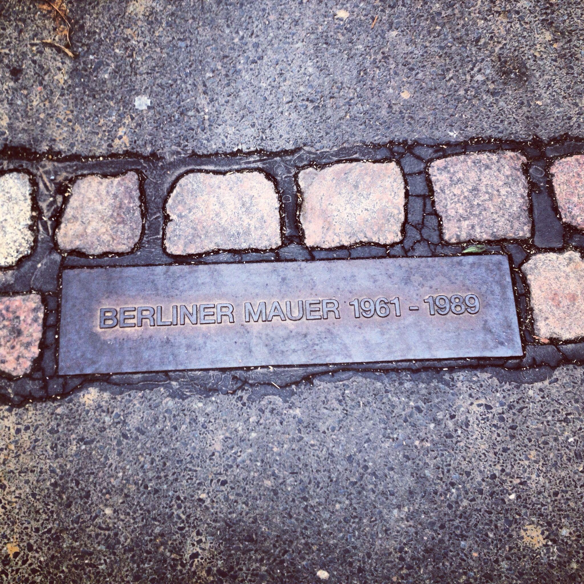 Berlijnse muur, gelukkig nu een slechte herinnering.