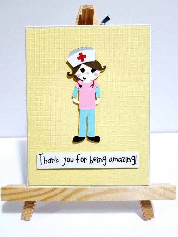 Photo of Handmade Thank you card for Nurse, Midwife, Mentor, Nursing School Graduate, Colleague, Retirement, Friend, Congratulations gift and more